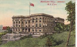 Estados Unidos--New York--1916--Bronnx--Borourgh Hall--Fechador--New York  A Francia - Bronx