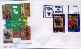 2656  FDC  Madrid 1994, Naipes Española, Baraja, Museo Del Naipe, - Juegos