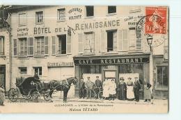 LUZARCHES - Hôtel De La Renaissance - Maison TETARD - Superbe Plan Animé - Peu Courant - Edition Fremont - 2 Scans - Luzarches