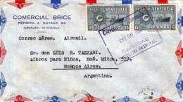 VENEZUELA 1950 - 2 Fach Frankierung Auf Brief V.Caracas N. Buenes Aires - Venezuela
