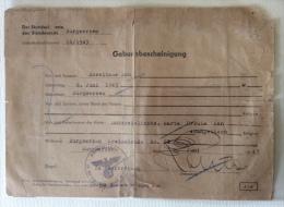 Certificato Di Nascita Del 1943 Terzo Reich Retro Timbro Ministero Affari Esteri Italiano Autenticita' - Documents
