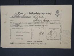 HONGRIE- Récipissé Postal En 1923   A Voir  LOT P4658 - Marcophilie