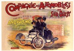 16  ANGOULEME  -  REPRO. D AFFICHE  -  COMPAGNIE DES AUTOMOBILES DU SUD OUEST - Angouleme