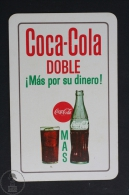Advertising Coca Cola Pocket Calendar 1964 Spain - Coca Cola Doble - Edited: Heraclio Fournier Vitoria, Spain - Calendarios