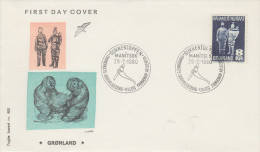 Enveloppe  1er  Jour  GROENLAND   Artisanat  Local   1980 - FDC