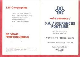1985 - Assurances Fontaine - 6518 La Hestre - Calendriers