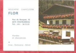 1985 - Boucherie-Charcuterie FLOR - 6070 CHATELINEAU - Calendriers