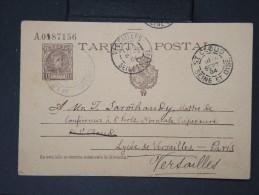 ESPAGNE- Entier Postal ( Carte  Léger Pli Central) Pour La France En 1904   A Voir  LOT P4663 - Interi Postali