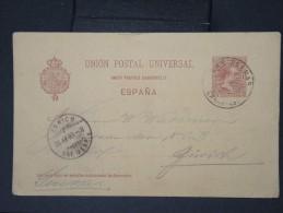 ESPAGNE- Entier Postal ( Carte) Pour La SUISSE  En 1893   A Voir  LOT P4664
