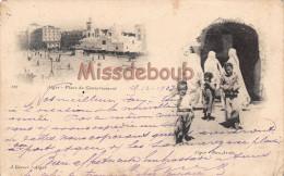 ALGERIE - ALGER - Place Du Gouvernement - Rue Arabe - 1903 - 2 Scans - Algiers