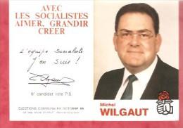 1989- Elections Communales 1988 Marchienne Au Pont -  Michel WILGAUT - Liste P.S. - Calendriers