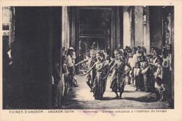 Camboya--Angkor--Siemreap--Danses Executees A L'interieur Du Temple - Camboya