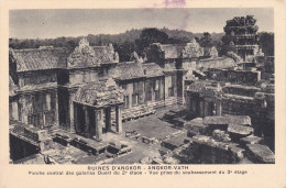 Camboya--Angkor--Siemreap--Porche Central Des Galeries Ouest Du 2º Etage - Camboya