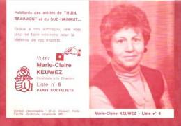 1982 - Elections - Arrondissement De Thuin - Marie-Claire KEUWEZ Liste N°6  Parti Socialiste - Calendriers