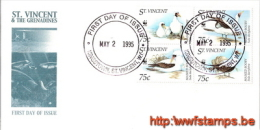 """""""50% DISCOUNT WWF - SAINT VINCENT - 1995 - Local FDC - 4 Stamps On 1 FDC - Marine - 2 Cancels - Differant Combination... - Ohne Zuordnung"""