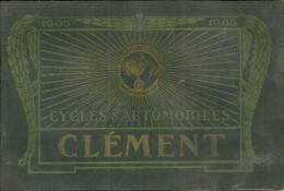 75 PARIS CATALOGUE CYCLES AUTOMOBILES CLEMENT 1905 BICYCLETTE AUTOCYCLETTE VOITURE  CYCLES ASTOR BEAUCAIRE PUBLICITE - Publicités