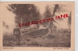 MILITARIA - GUERRE 1914-1918- CHARS DE COMBAT  - CHAR RENVERSANT UN ARBRE -   TANK - Guerre 1914-18