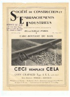 S N C F  SOCETE De CONSTRUCTION Et D'EMBRANCHEMENTS INDUSTRIELS à PARIS - Railway