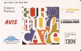 O 360 TARJETA DE ALEMANIA DE 6 DM DE EUROPA MUSICALE (IBM-AVIS-LUFTHANSA) - O-Serie : Serie Clienti Esclusi Dal Servizio Delle Collezioni