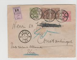 NL272a/ Buntfrankatur Nach Constantinople (Dt. Postamt) 1902 Per Einschreiben - Periode 1891-1948 (Wilhelmina)