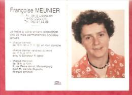 1982 - Permanences Sociales  - Françoise MEUNIER - Couvin - Calendriers