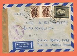 Luftpostbrief  Ganzsache Airmail  St Martin Mürzthale - Rio De Janeiro 12/3/1949 - 1945-60 Lettres