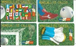 SCH265 - S. MARINO - MONDIALI DI CALCIO - FRANCIA 1998 - SERIE NUOVA - DA LIRE 2000-3000-5000-10000 - San Marino