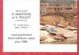 1990 - R.MAERTENS Et V.POUCET Pharmaciens - Chimay - Calendriers