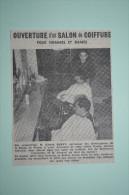 Coupure De Presse 1963 Coiffeur Buvat à Riom Puy De Dôme 63 - Historische Documenten