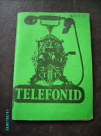 1980 ESTONIA  TALLINN  FOOD MARKET SYSTEM TELEPHONE DIRECTORY - Livres, BD, Revues