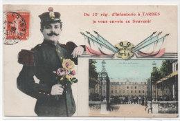 TARBES - Du 12° Regt D' Infanterie Je Vous Envoie Ce Souvenir - Montage     (77661) - Tarbes