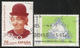 1998-ED. 3547 Y 3589 - PERSONAJES POPULARES. '' FOFO '' Y DIA DEL SELLO- USADO - 1931-Aujourd'hui: II. République - ....Juan Carlos I