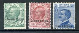 1908-09 ERITREA SET * - Erythrée