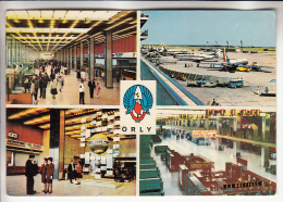 AERODROME - AEROPORT DE PARIS ORLY Airport : Multivues Hall Aire Stationnement Galerie Marchande - Jolie CPSM GF 1963 - - Aerodrome