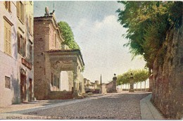 Lombardia-bergamo-bergamo Chiesetta Di S.maria Del Giglio E Via A Porta S.giacomo - Bergamo