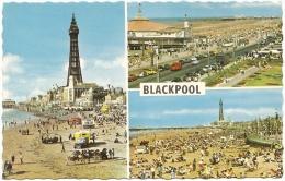 GB - La - Blackpool - Multiview :  Central Beach, South Pier And Promenade, South Promenade (n° BL 22 A) - Blackpool