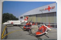 AIRLINES ISSUE  CARTE COMPAGNIE  REGA  AGUSTA  A 109K2    EUROCOPTER EC 145  CANADAIR CL 604 - 1946-....: Modern Era