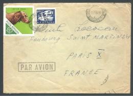 ! - 1967 - 2 Timbres Sur Lettre (obl) - De Roumanie (Bucuresti) Vers France (Paris) - Par Avion - 1948-.... Republics