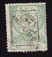 Turkey, Scott #P10, Used, Tughra Overprinted, Issued 1891 - 1858-1921 Ottoman Empire