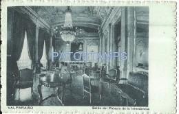 8697 CHILE VALPARAISO SALON DEL PALACIO DE LA INTENDENCIA INTERIOR POSTAL POSTCARD - Chile