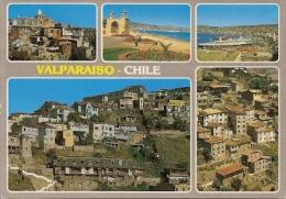 VALPARAÍSO CHILE MULTIVISTA PANORAMA EDIT.HISPAPEL VIAJADA VOYAGÉE 1989 GECKO - Chili