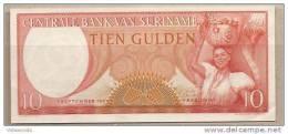 Suriname - Banconota Non Circolata Da 10 Fiorini - 1963 - - Suriname