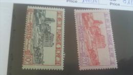 LOT 257854 TIMBRE DE COLONIE TUNISIE NEUF* N�144/145 VALEUR 15,5 EUROS