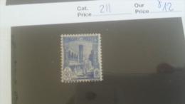 LOT 257856 TIMBRE DE COLONIE TUNISIE NEUF* N�211 VALEUR 12 EUROS
