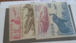 LOT 257889 TIMBRE DE COLONIE TOGO NEUF* N�17 A 20 VALEUR 32 EUROS