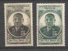 AFRIQUE OCCIDENTALE FRANCAISE YT 2 Et 3 * - Nuovi