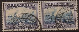 SOUTH AFRICA 1933 2d Pair SG 58 VGU VF231 - Zuid-Afrika (...-1961)