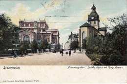 STOCKHOLM - Arsenalsgatan, Jakobs Kyrka Och Kongl.Operan, Gel.190? V. Stockholm N. Klagenfurt - Schweden