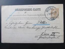 Korrespondenzkarte Zur Pneumatischen Expressbeförderung 1903 /// T1448 - 1850-1918 Imperium