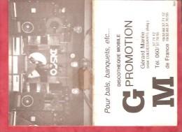1981 - Discothèque Mobile GM Promotion  - Gérard Marée 6404 Cul Des Sarts - Calendriers